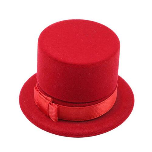 Hat Shape Jewelry Gift Box Ring Earring Necklace Pendant Display Case HS3