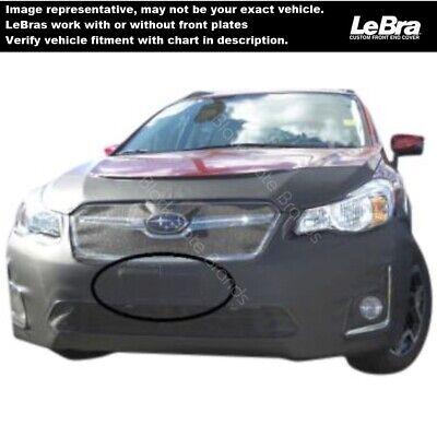 Car Mask Bra Lebra 2 piece Front End Cover Black Fits 2016 Subaru Crosstrek- including Hybrid