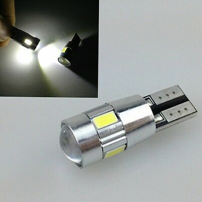 1x Auto Car CANBUS T10 W5W 5630 6-SMD HID White 194 192 158 LED Light Bulb Lamp
