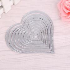 10pcs Heart Sewing Thread Metal Die Cutting Dies For DIY Scrapbooking Embossing