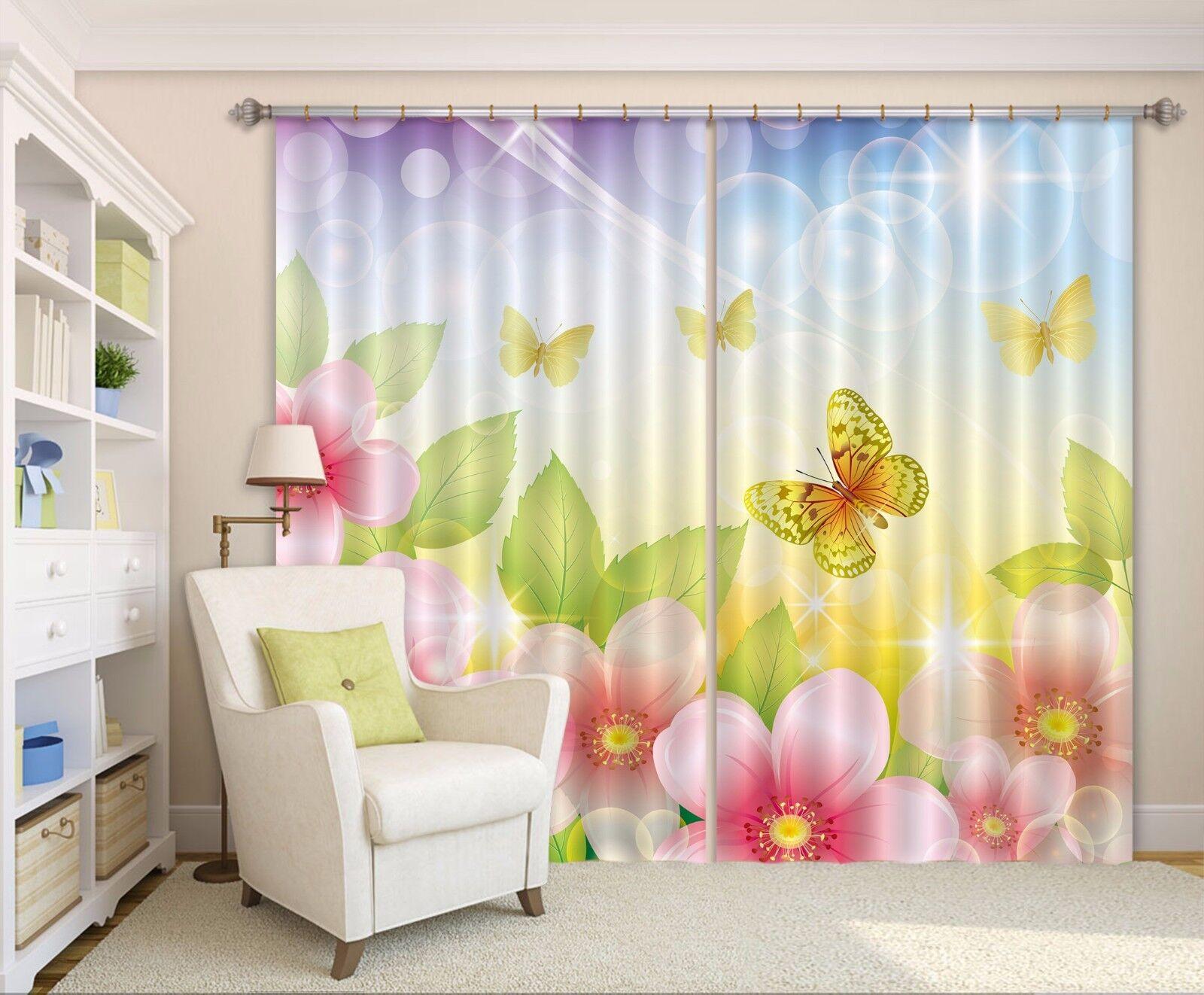 3D Melocotón Bloom Cortinas de impresión de cortina de foto 9 Blockout Tela Cortinas Ventana CA