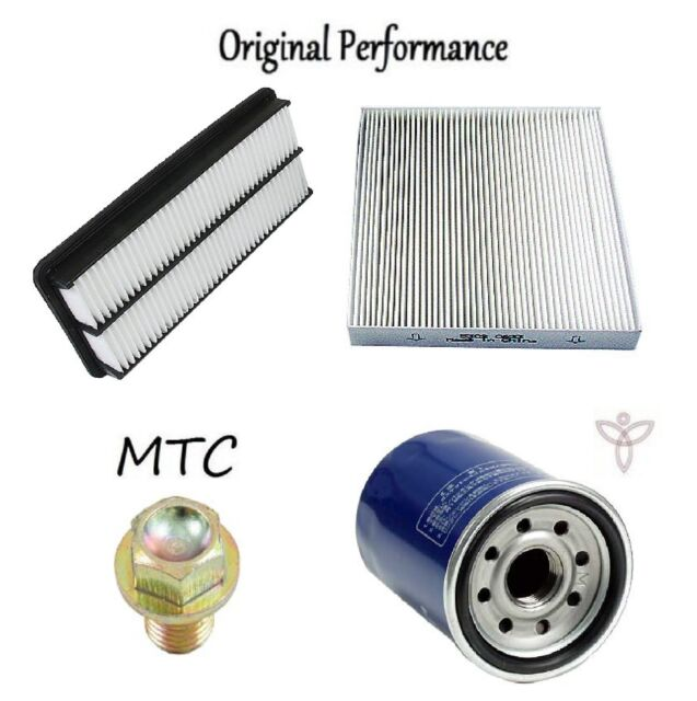 Tune Up Kit Cabin Air Oil Filters Drain Plug For Acura TL