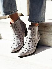 Free People Jeffrey Campbell Gray After Dark Suede Rhinestone Boots-7