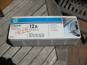 Genuine OEM HP LaserJet Q2612A 12A Black Toner Cartridge New Factory Sealed