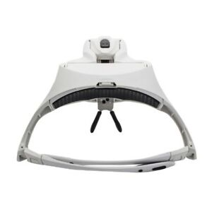 UK-Headband-Headset-Head-LED-Lamp-Light-Jeweler-Magnifier-Magnifying-Glass-Loupe