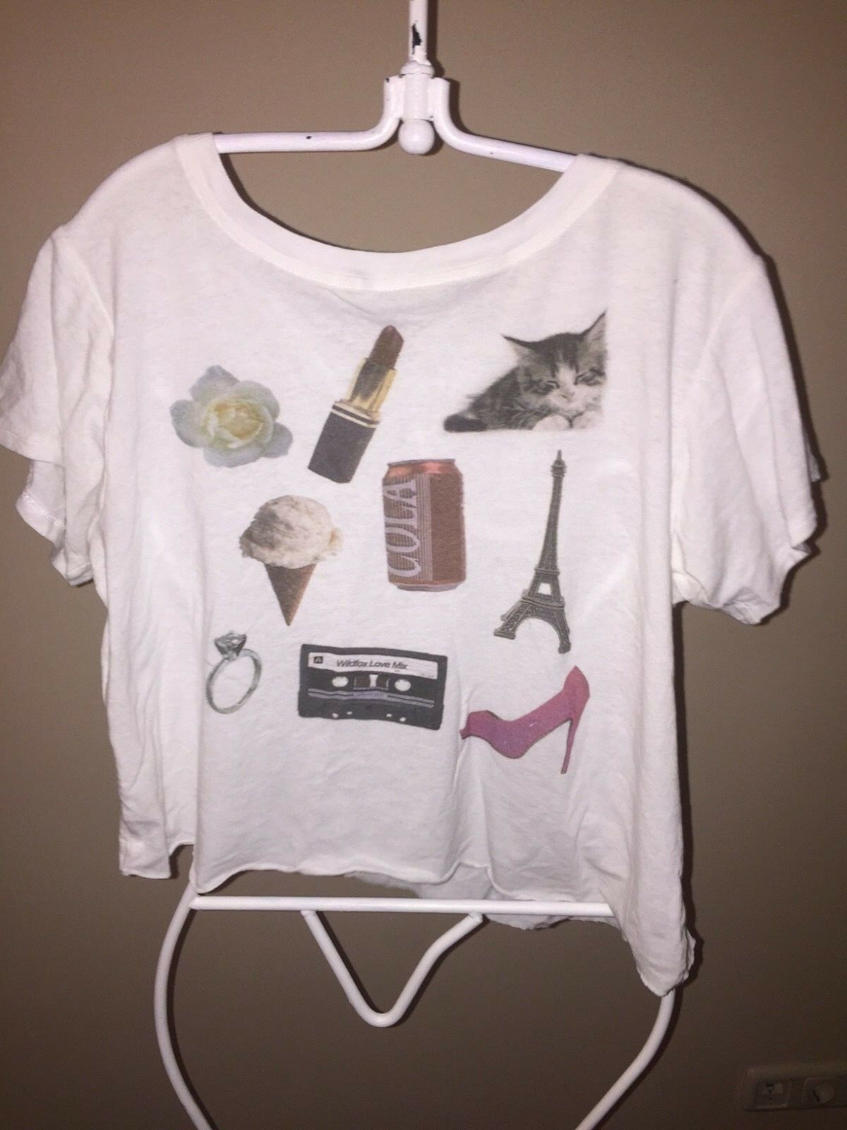 WILDFOX Weiß LABEL EXTREMELY RARE SUPER SOFT UNIQUE CALI TEE  BRAND NEW&AWESOME
