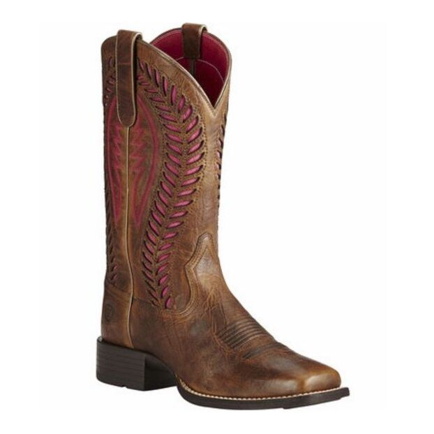 Ariat® Ladies Quickdraw VentTEK Barn Brown Western Boot 10019904