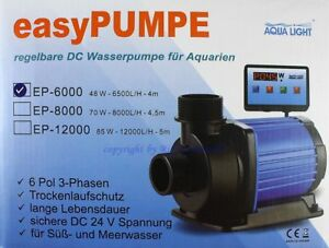 Pet Supplies Inventive Easypumpe 24v-dc Sixpole Ep-6000 Con Control Digital Bomba Dulce Agua De Mar 2019 New Fashion Style Online