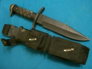 VINTAGE BUCK USA184BUCKMASTER RAMBO COMBAT FIGHTING HUNTING SURVIVAL BOWIE KNIFE