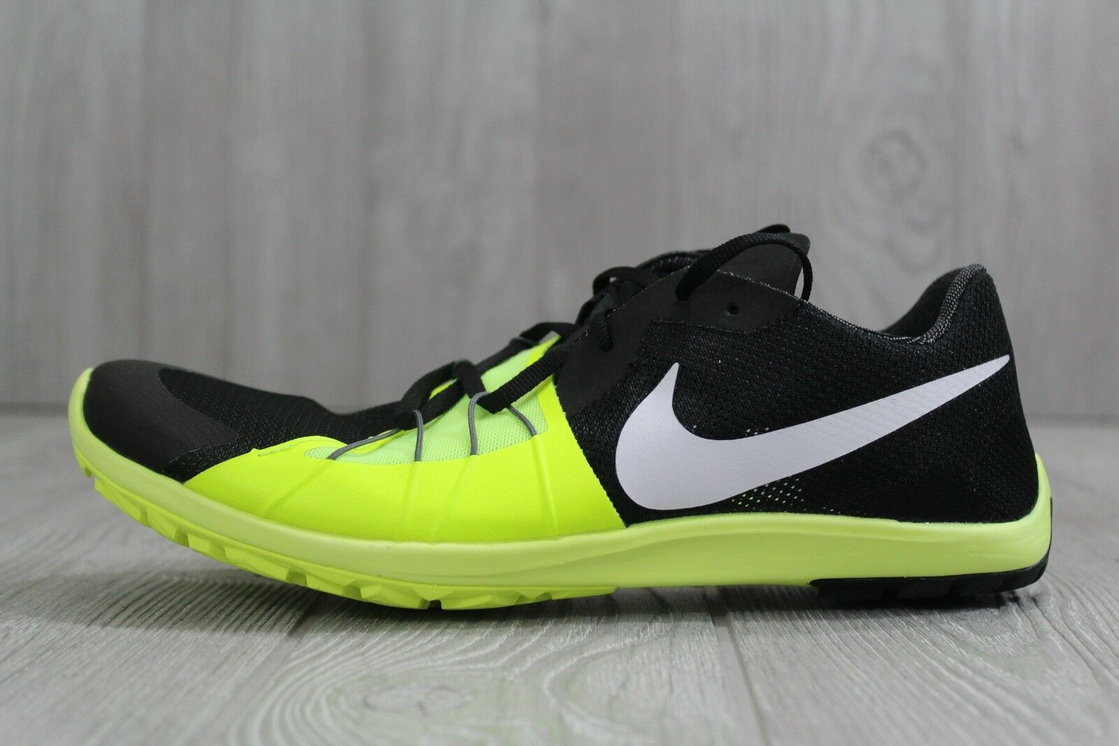 Seasonal clearance sale 32 Mens NIKE Zoom Forever Waffle 5 XC Black Spikeless Cross Country Shoes 8 9