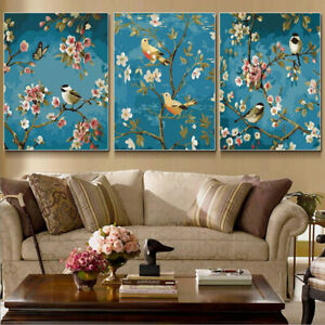 VINTAGE CHIC BUTTERFLY BIRDCAGE CANVAS PICTURE POSTER PRINT UNFRAMED #312