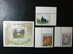 Yemen - 1995 -  protection of yemen environment souvenir sheet & 3 Stamps - MNH
