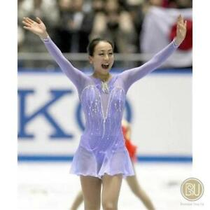 Competition Figure Skating Dress Lilac Long Sleeves