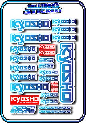KYOSHO MODEL RC CAR DRONE BOAT BUGGY MINI Z STICKERS DECALS ROBOT R//C BLU//YEL W