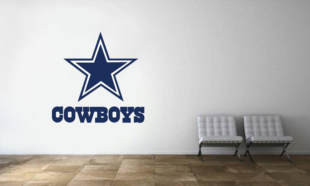 Dallas Cowboys NFL Logo Wall Decal Football Decor Art Mural Vinyl Sticker