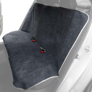 Waterproof Towel Rear Car Seat Covers For Sweat Yoga Gym Pets Gray White Ebay