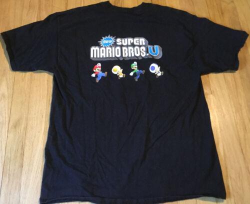 Nintendo Super Mario Bros U t shirt XL Wii U video