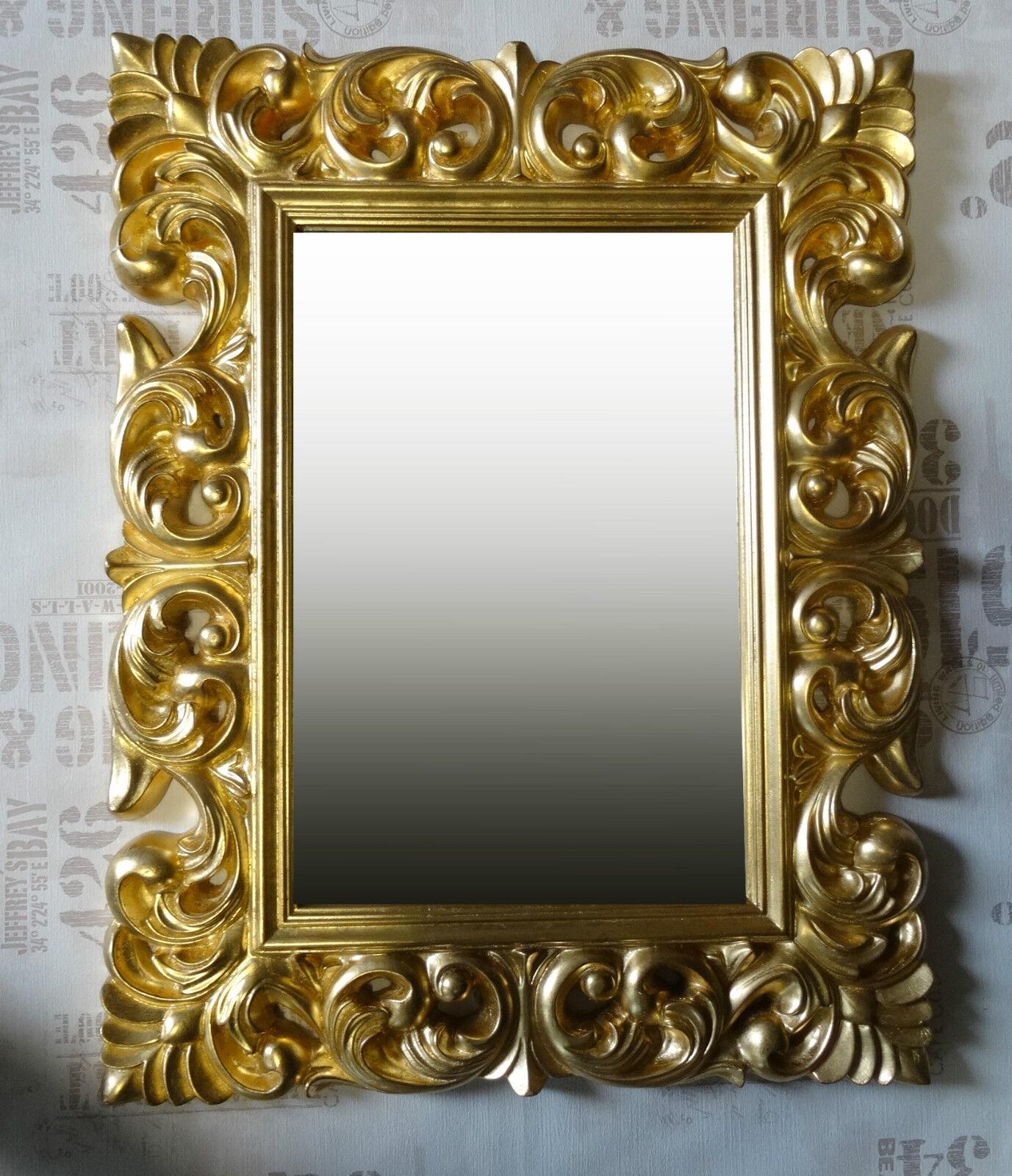 Espejo de pared antik rokoko 90x70 barroco en dorado for Couchtisch 90x70