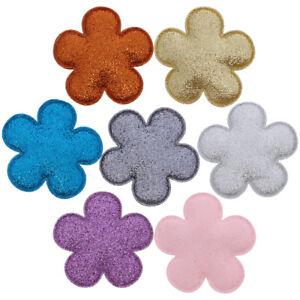 Plush-Hair-Clips-Plush-Glitter-Flower-Womens-Hair-Clip-Barrette-2-2-Inches