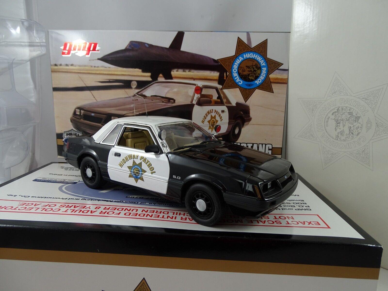 1:18 GMP #9065 - 1985 FORD MUSTANG California Highway Patrol-rarità §