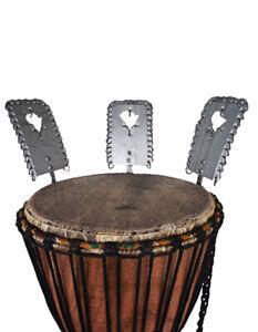 Kessing Set 3 Stk. für die Djembé Dreadnut Westafrica Snare Sound Percussion