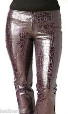PURPLE PVC LEATHER VINYL PANTS size 5