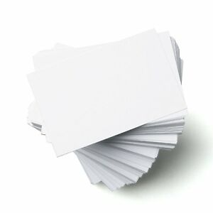 Standard size 85mm x 55mm blank white glossy business cards 300gsm image is loading standard size 85mm x 55mm blank white glossy reheart