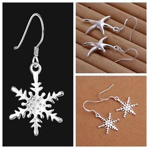 NEW-Fashion-Women-Lady-Jewelry-Silver-Plated-Solid-Hoop-Earrings-XMAS-Gift