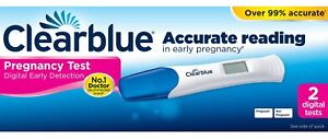 Clearblue Pregnancy Test 2 Digital Early Detection Tests Over 99% Accurate 4084500423015