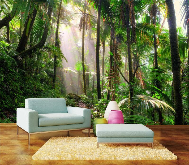 3D Sonnenschein Dschungel 936 Tapete Wandgemälde Tapeten Bild Familie DE Lemon