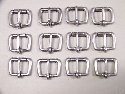Leather Craft Buckles #50 Roller Buckle Stainless Steel 1 Inch Size  Qty of 12