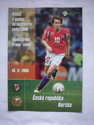Brillant Orig.prg Wm Qualifikation 16.11.2005 Tschechien - Norwegen !! Selten