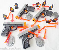 4X Toy Guns & Target Sets GREAT DEAL Dual 9MM Dart Pistol & Targets Set