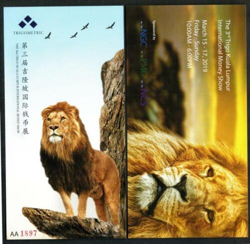 China 2019 3rd Kuala Lumpur International Coins Exhibition Commemorative Note