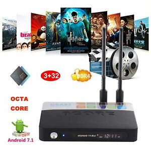 2018 3+32GB DDR4 Android 7.1 Nougat Amlogic S912 Octa Core 4K Smart CSA93 TV BOX