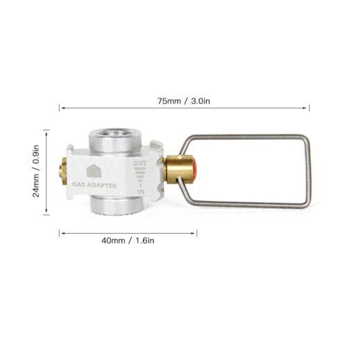 Camping Gas Saver Plus Gas Convertor Shifter Refill Flat Tank Conversion Adapter