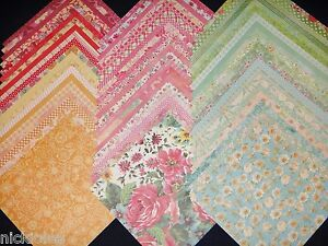 60 12x12 Scrapbook Paper DCWV Fresh Floral Stack Spring Girly Garden Flowers Lot