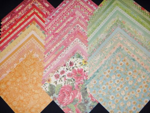 12x12 Scrapbook Paper DCWV Floral Fair Spring Girly Stack 60 Garden Flowers Lot