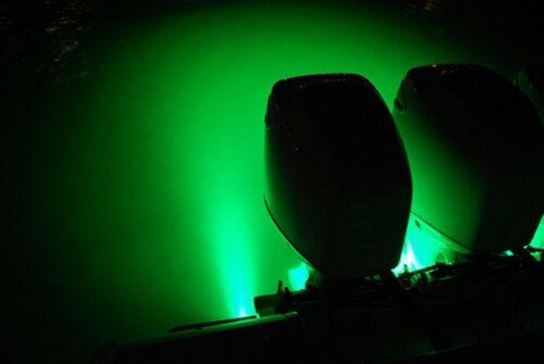 4x Green LED Boat Light Waterproof 12v Deck Storage Bow Stern Pontoon Navigation
