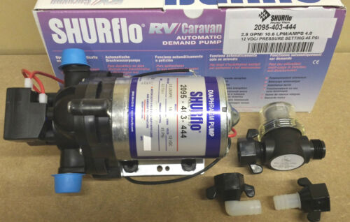 SHURFLO Trailking 12volt 45psi 10LPM 4amps 2095403444 & Wing Nut Filter