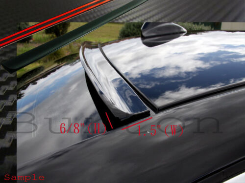 Painted Silver For 2013-2017 HONDA ACCORD 4D SEDAN-Rear Window Roof Spoiler