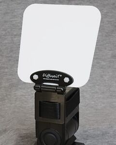 DiffuseiT-Flash-Reflector-Bounce-Diffuser-Fits-all-Canon-Nikon-etc-NEW