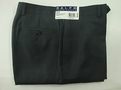 NWT $69 POLO RALPH LAUREN DRESS PANTS MENS 40 x 30 38 x 29 GREY FLAT  NEW