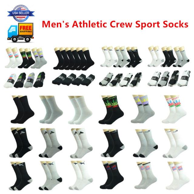 Wholesale Lot Men/'s Crew Athletic Casual Marijuana Sports Socks Size 9-11 10-13