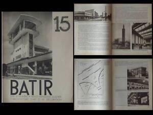 Batir N°15 1934 Gares, Victor Bourgeois, Calcul Minutieux Et BudgéTisation Stricte