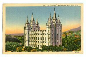 Great Mormon Tabernacle,Salt Lake City UT unused vintage postcard
