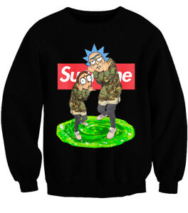 Image Is Loading Supreme Rick And Morty Parody Jumper Get Schwifty