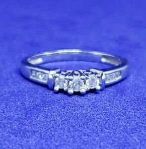 size 5.75 vintage engagement promise ring diamond engagement vintage diamond ring Vintage Synthetic Sapphire and Diamond Ring