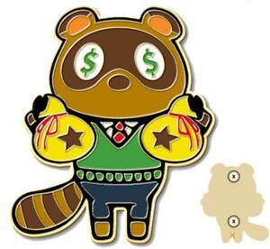 Animal Crossing Tom Nook Gold Lapel Pin