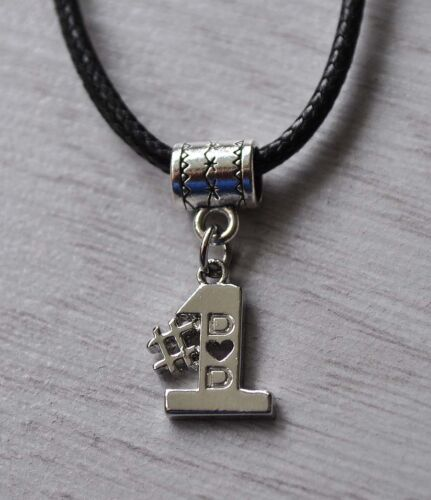 Mens Gift #1 Dad Pendant Necklace Daddy Fathers Day Gents Gift Platinum Plt